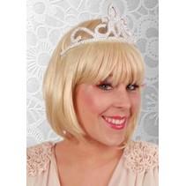 Kroontje tiara zilver