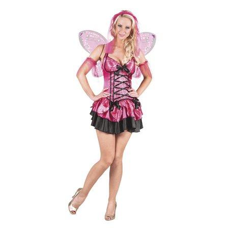 Sexy Feeen kostuum roze