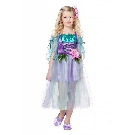 Bloemenfee jurk kind blauw