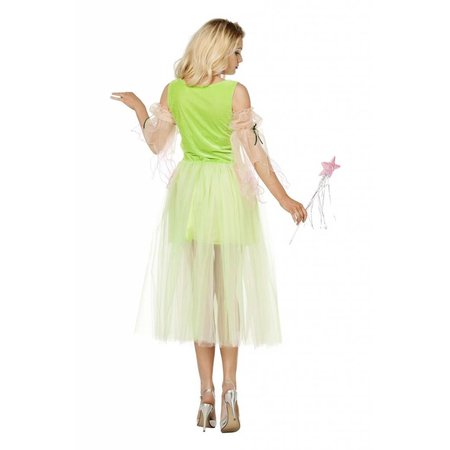 Bloemenfee jurk groen