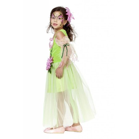 Bloemenfee jurk kind groen