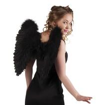 Engelen vleugel zwart 50x50cm