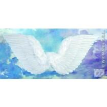 Gevederde vleugels wit 71x45cm