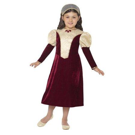 Tudor prinsessen kostuum meisje