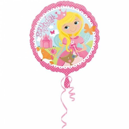 Helium Ballon Happy Birthday Princess 43cm