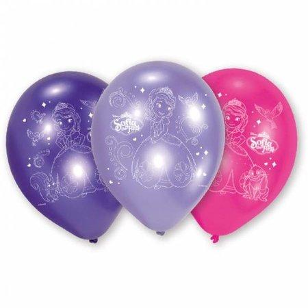 6 Ballonnen Sofia het Prinsesje