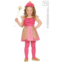 Kleine roze prinses kostuum