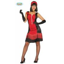 Charleston kostuum vrouw rood