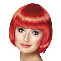 Pruik bobline new look rood