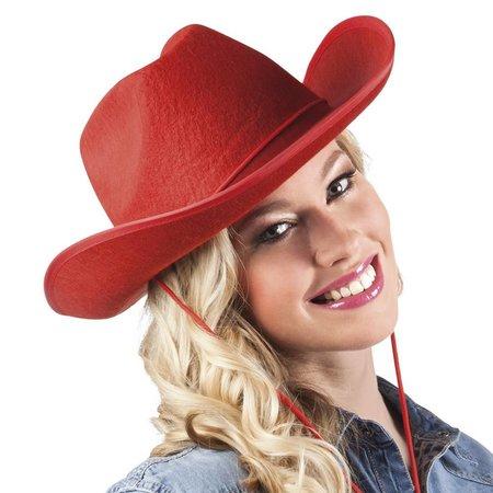 Cowboyhoed rood vilt