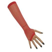 Nethandschoenen vingerloos rood