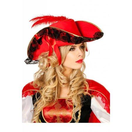 Luxe Piraten/Garde hoed rood