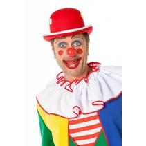 Bolhoed Clown met noppen rood