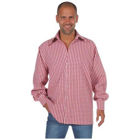 Tiroolse blouse rood/wit