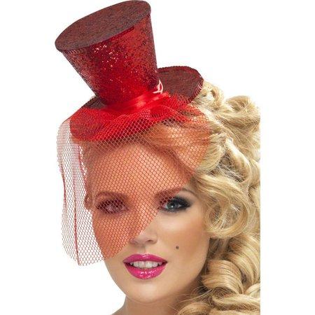 Fever mini hoedje rood