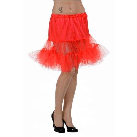 Petticoat lang rood