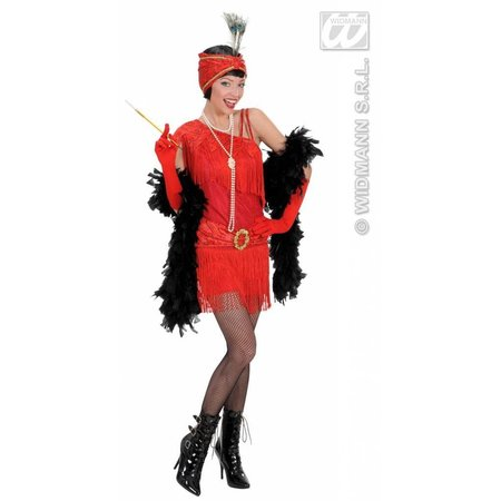 Flapper jurk rood 20's