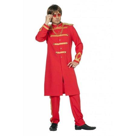 Sgt Pepper kostuum man rood