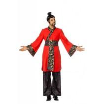China kostuum man rood