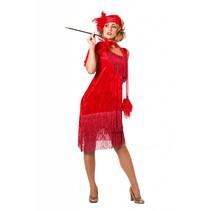 Jaren 20 kostuum rood de luxe