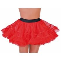 Petticoat kort rood brede elastiek
