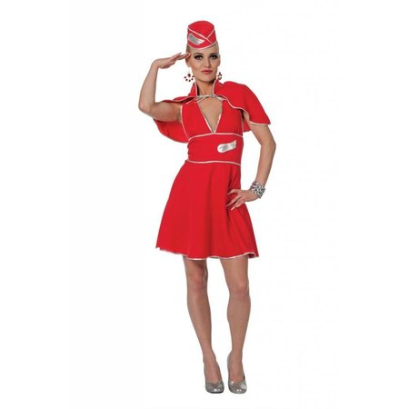 Stewardess carnavalskleding rood