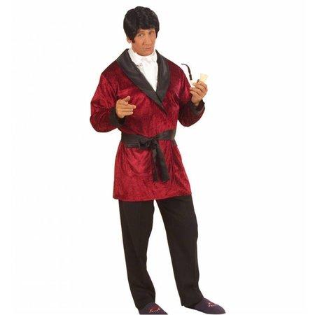 Playboy kostuum Hefner rood