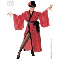 Geisha kostuum rood