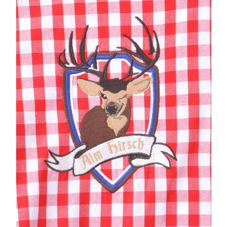 Blouse Tiroler Edelweiss elite rood
