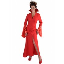 Halloween Vampier jurk rood