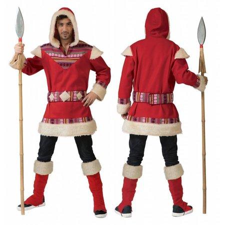Eskimo kostuum man rood