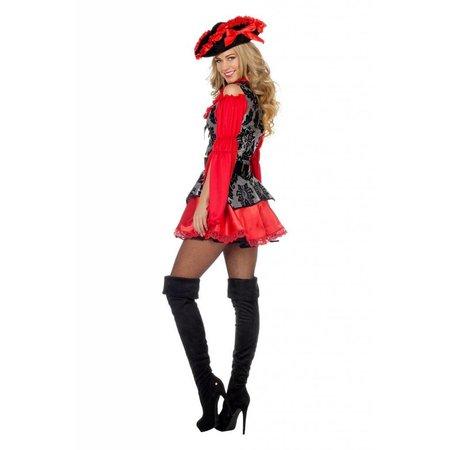 Sexy Piratenjurkje rood