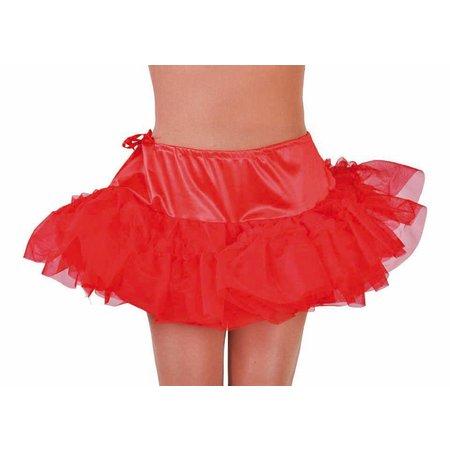 Petticoat kort rood met tunnel