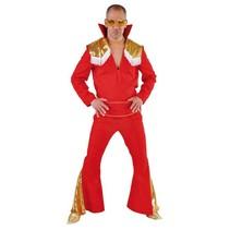 Beroemdheid Elvis kostuum Elite rood/goud