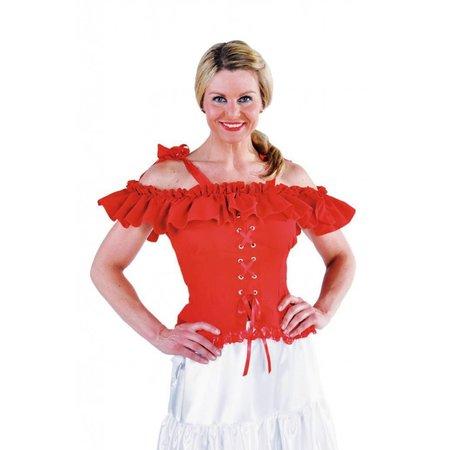 Carmen blouse rood