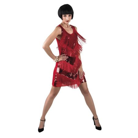 Flapper jurk rood Chicago
