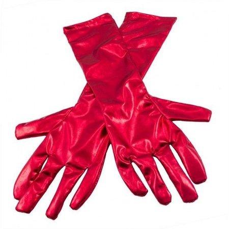 Handschoenen metalic rood