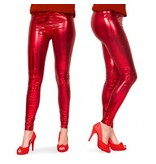 Legging metallic rood