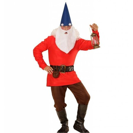 Dwerg kostuum compleet rood Warbo