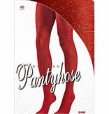 Panty 40den glitter rood