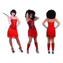 Glitter Toppers jurkje met franjes rood