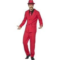 Gangster kostuum pak rood