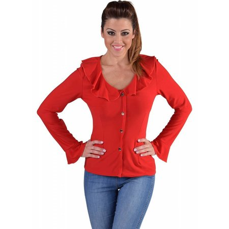 Jersey blouse rood