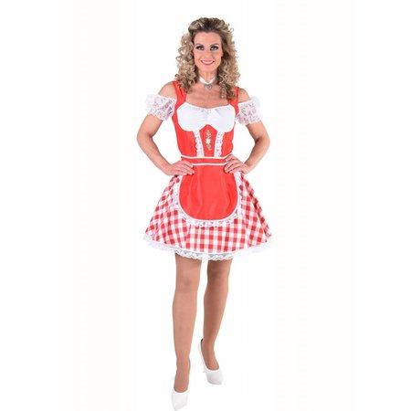 Oktoberfest jurk Rood
