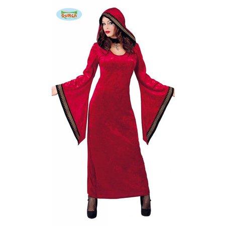 Magische Halloween dames tuniek rood