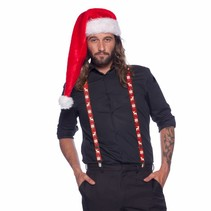 Kerst bretels rendier rood