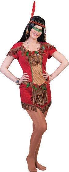 Kostuums Dames.Indianen Kostuum Dames Rood