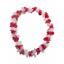 Bloemenslinger rood/wit