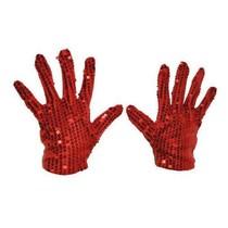 Handschoenen Rood Pailletten