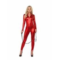 Cat Suit Zip Up Dames rood
